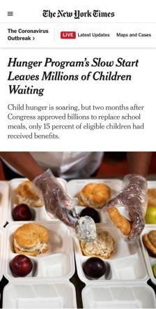 """最富国家儿童挨饿,美""""粮票""""计划难饱苦寒"""